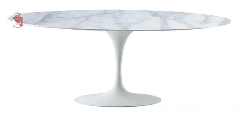 Ovaler marmortisch marmor 199 cm made in italy for Marmortisch modern
