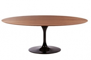 Wood Table 224 cm Oval