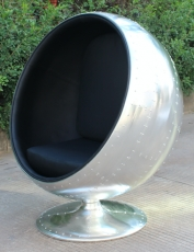 Aviator aluminium ball chair