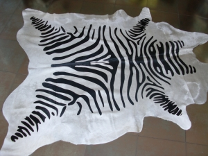 Cow hide carpet zebra print
