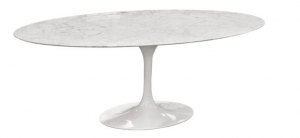 Oval marble table 244 cm made in italy