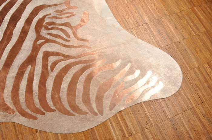 cow hide carpet zebra print cuper