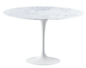 Round marble table 110 cm